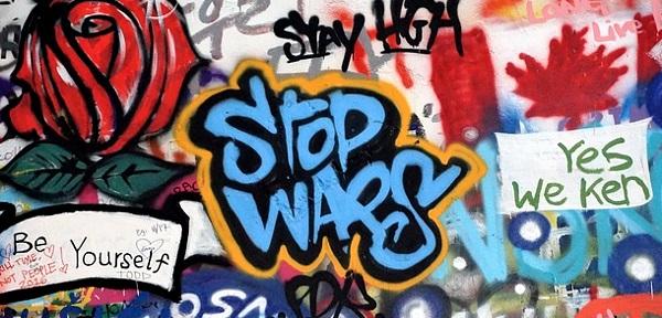Anti-Krieg-Graffiti