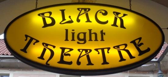 Schild Schwarzlicht-Theater
